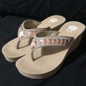 Yellow Box Belmac Tan Wedge Sandal